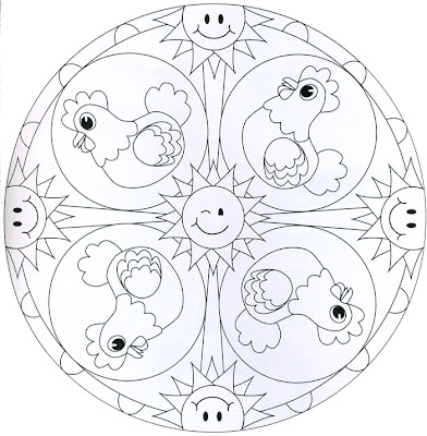 Mandala de gallinas