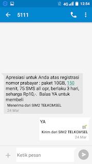 Cara Registrasi Kartu Telkomsel Via SMS dan Lewat SMS Terbaru 2018