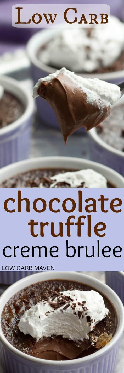 LOW CARB CHOCOLATE TRUFFLE CREME BRULEE
