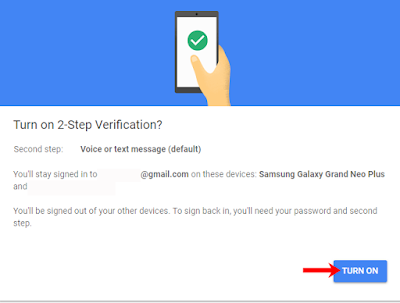 turn on 2 step verification