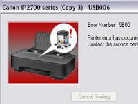 Cara Mudah Reset Printer Canon IP 2770 / IP2700 Blink 8x