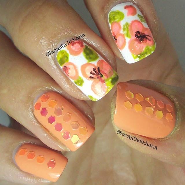 GlitterHarunouta-FlowersNails