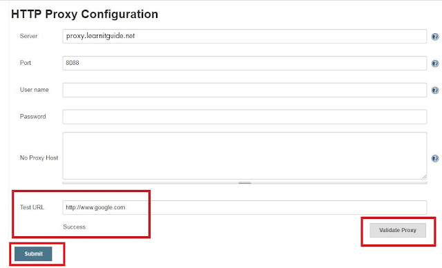 jenkins proxy configuration