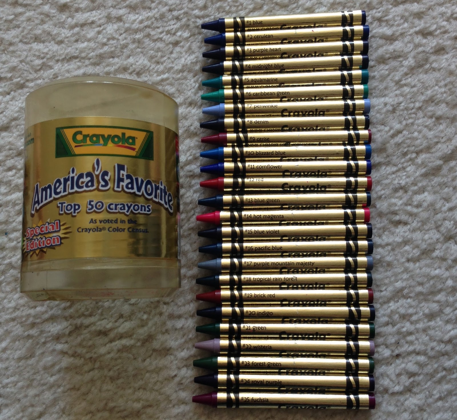 america s top 50 crayons what s inside the box jenny s crayon