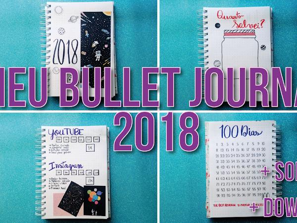 Vídeo: Meu bullet journal 2018 parte 1 + Download 100 dias de produtividade.