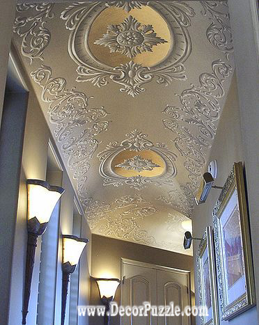Scrollwork ceiling designs, ceiling ideas 2018, hallway ceiling designs