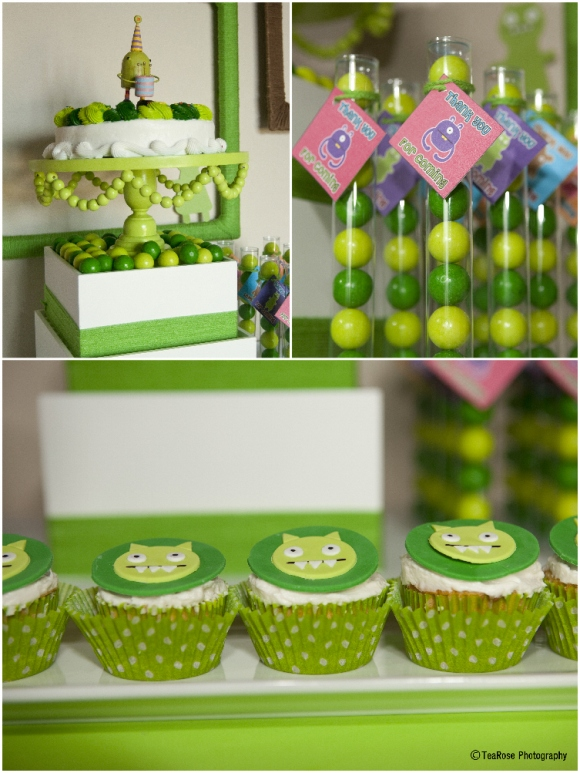 A Modern Little Monsters Birthday Party - via BirdsParty.com