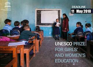 UNESCO Prize for Girls' & Women's Education - 2018 | $50,000 Awards