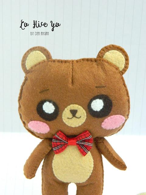 felt bear plush