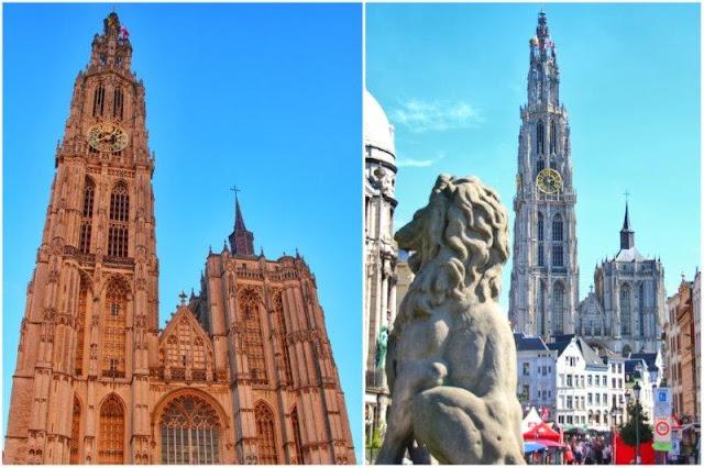 Catedral de Nuestra Señora en Amberes Antwerpen de día