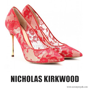 Crown Princess Mette-Marit wore Nicholas Kirkwood Lace Pumps