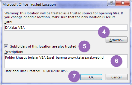 Add New Excel Trusted Locations