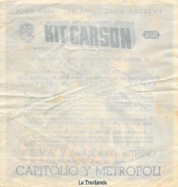 Kit Carson - Programa de Cine - Jon Hall - Lynn Bari