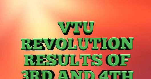VTU REVALUATION RESULTS of B.E./B,Tech 3rd & 4th semester has been announced June/July 2017.