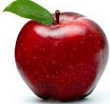 Manzana roja o manzana de color rojo