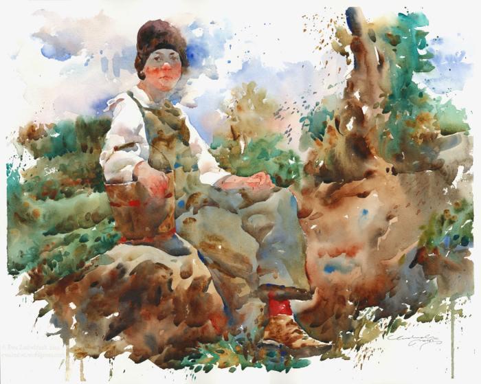 Акварельная живопись. Ewa Ludwiczak