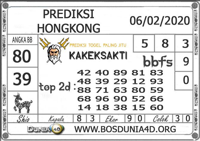 Prediksi Togel HONGKONG DUNIA4D 06  FEBRUARI 2020