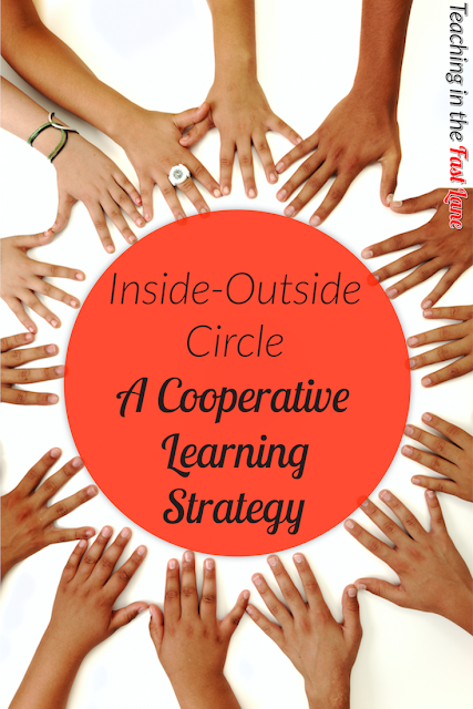 Inside outside circle is a great cooperative learning strategy for sharing student writing, opinions, or answering short questions. Students love it!