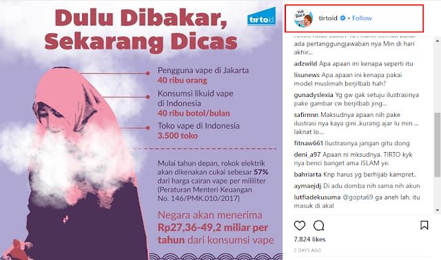 Gunakan Wanita Berhijab Untuk Ilustrasi Rokok Elektrik