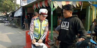 Polres Karawang Gelar Operasi Terpadu Selama 3 Jam di Jalan Raya Klari