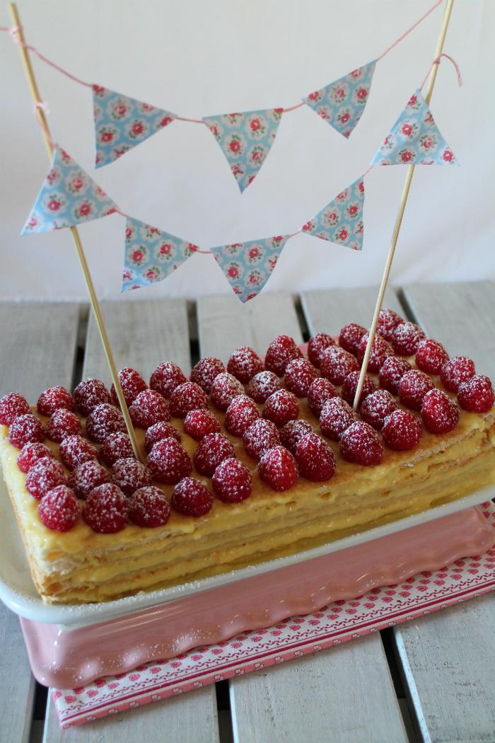 raspberry-puff-pastry, milhojas-de-frambuesa