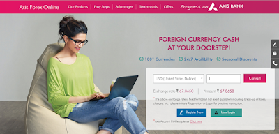 AxisForexOnline by Axis Bank for Complete Retail Forex Solution