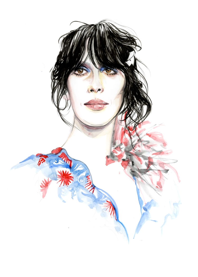 02-Caroline-Andrieu-Fashion-Shows-Distilled-into-Drawing-Portraits-www-designstack-co