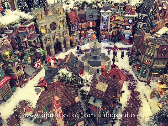 joulu, askartelu, joulukylä, miniatyyri, joulukoriste