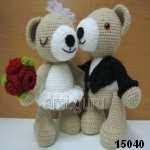 patron gratis osos novios, free pattern amigurumi bears boyfriends