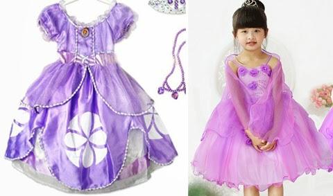 baju pesta anak princess