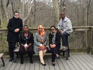 Idowu Adegbilero-Iwari and IFLA/OCLC fellows
