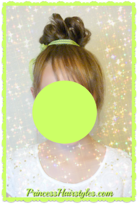 Disney hairstyle tutorial, Tinker Bell, how to make fake bangs