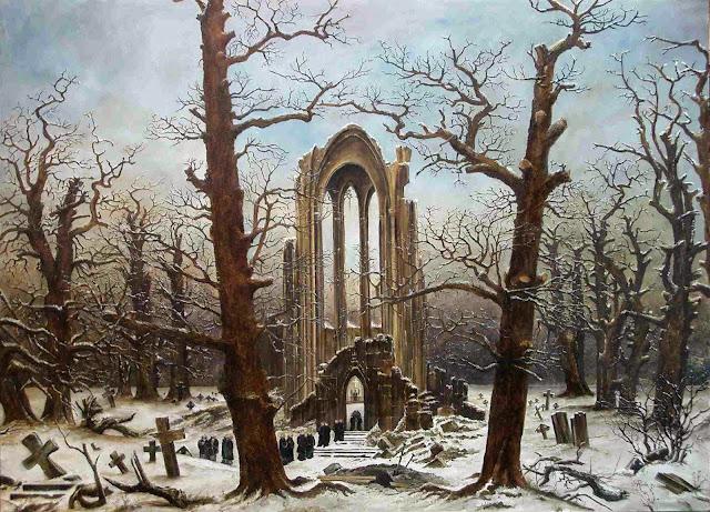Cimitero Innevato - Friedrich Caspar