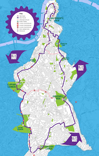 Bike the Borough 2013 route map