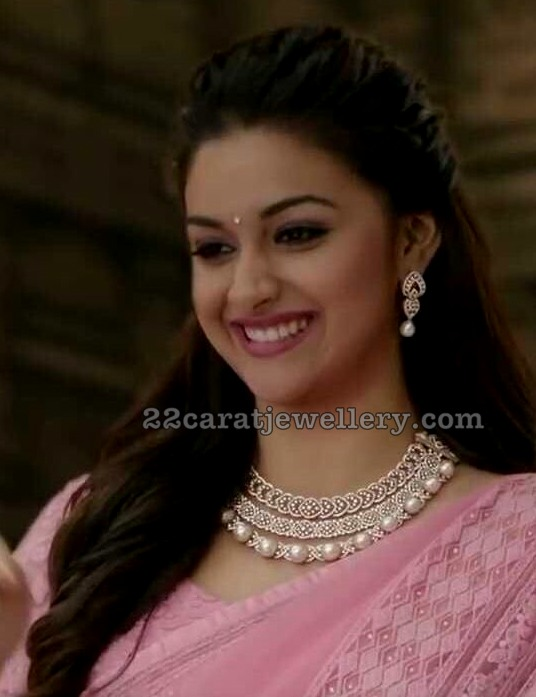 Keerthi Suresh Diamond Necklace