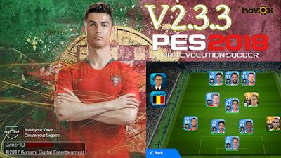 PES 2018 Mobile Android Minimum Patch v4 5 C Ronaldo Startscreen