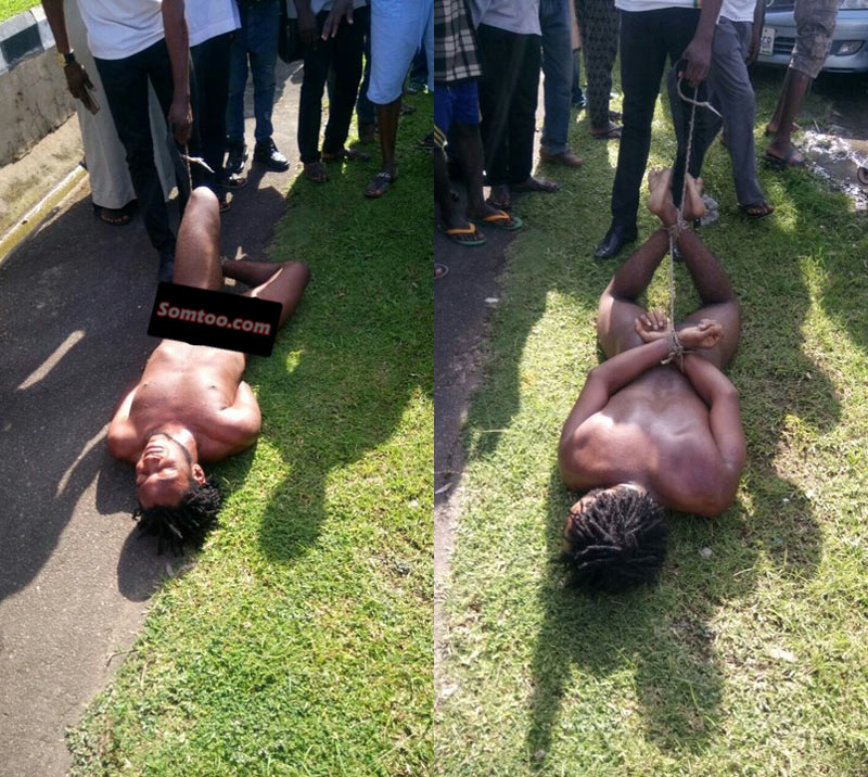 Video: Two unclad brothers rampage on people in Abuja