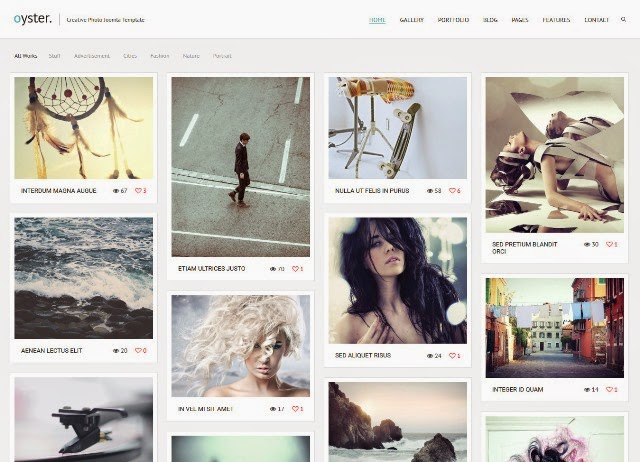 Oyster – Creative Photography Joomla Template