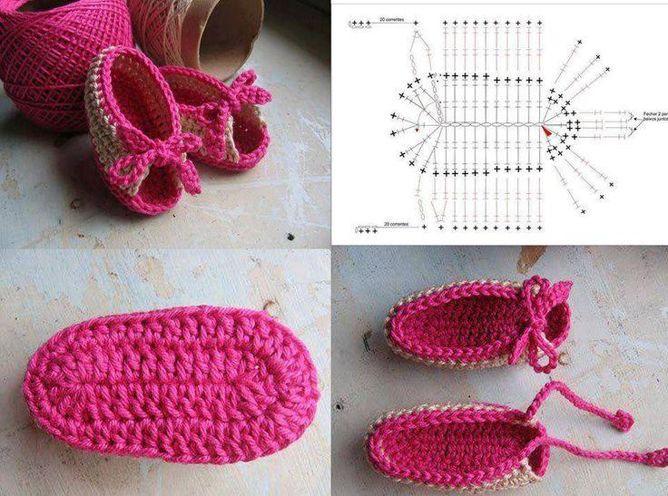 Sandália de crochê para bebês - confeccionadas por Pecunia MillioM