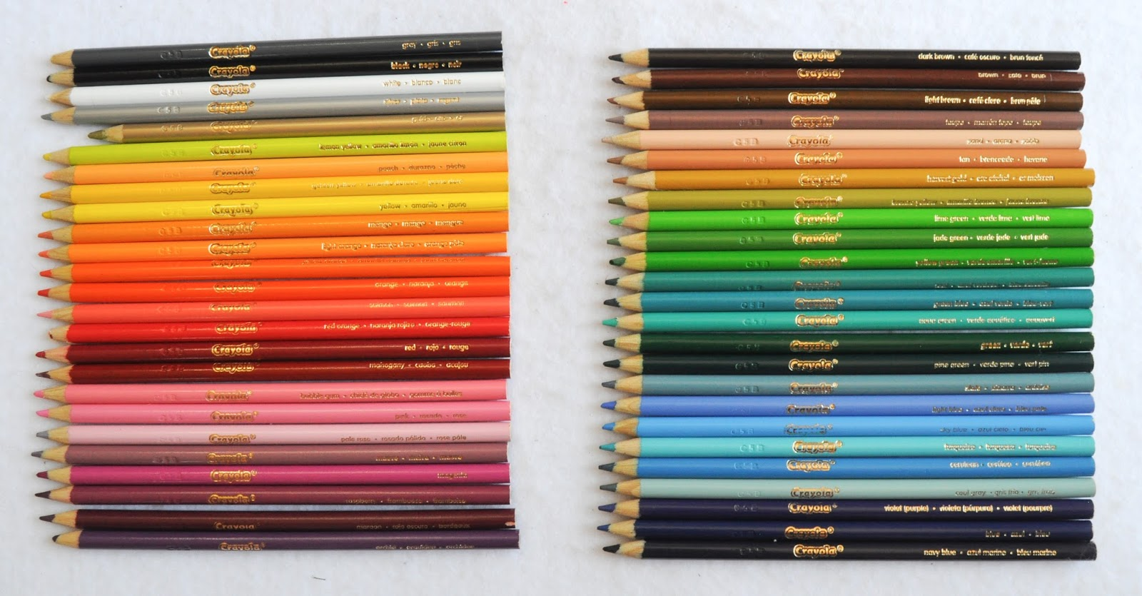 Crayola 50 Count Colored Pencils Whats Inside the Box Jennys