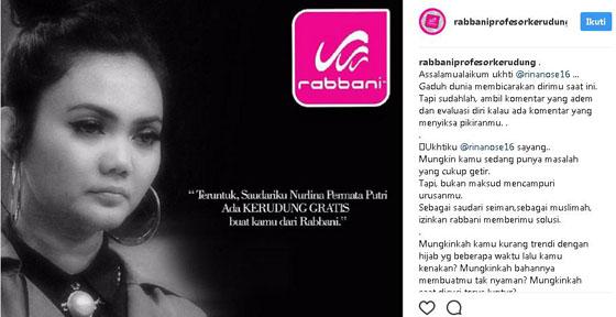 Polemik Iklan Rabbani yang 'Sindir' Rina Nose Yang Jadi Viral