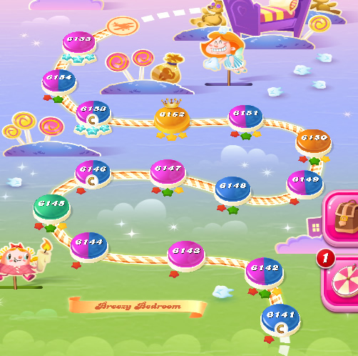 Candy Crush Saga level 6141-6155
