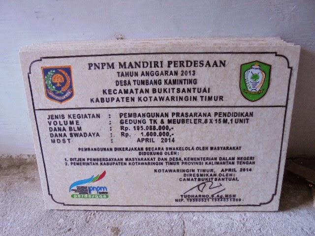 Prasasti Marmer PNPM Asal Tulungagung