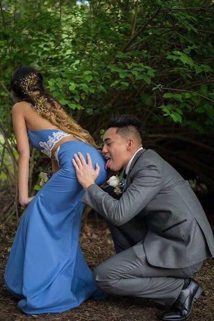 Pasangan Ini Bikin Foto Pre-Wedding dengan Pose Tidak Senonoh, Banyak yang Protes, Memang Norak