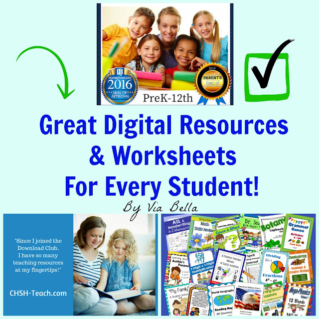Great Digital Resources & Worksheets For Every Student, CHSH, Home schooling, homeschooling, student, digital worksheet, homeschool resources, k-12, homeschool, education, teach, curriculum. worksheets, lapbooking, notebooking, colouring pages, parents