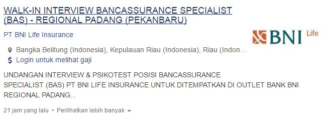 Lowongan Kerja Kabupaten Bangka Tengah 2019