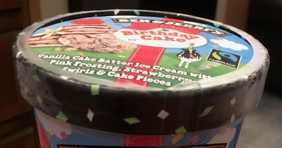 Foodstuff Finds Ben Amp Jerry S Birthday Cake Ice Cream