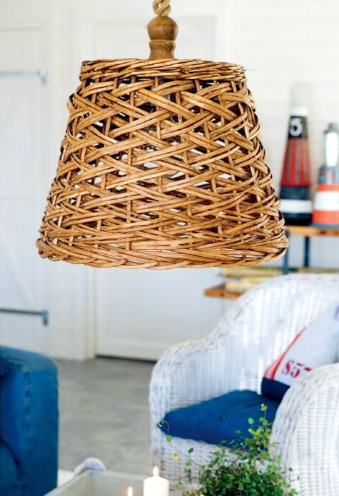 Nautical Basket Lamp Idea