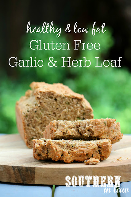 Easy Gluten Free Garlic and Herb Loaf Recipe - homemade gluten free breads, low fat, gluten free, healthy, clean eating recipe, one bowl recipe
