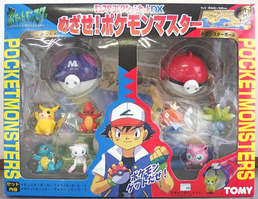 Mew Pokemon figure Tomy Monster Collection DX set